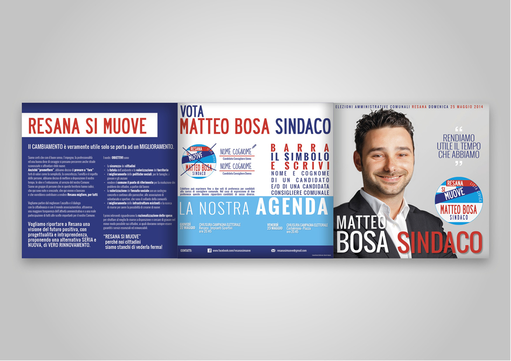 Leaflet elettorale-fronte